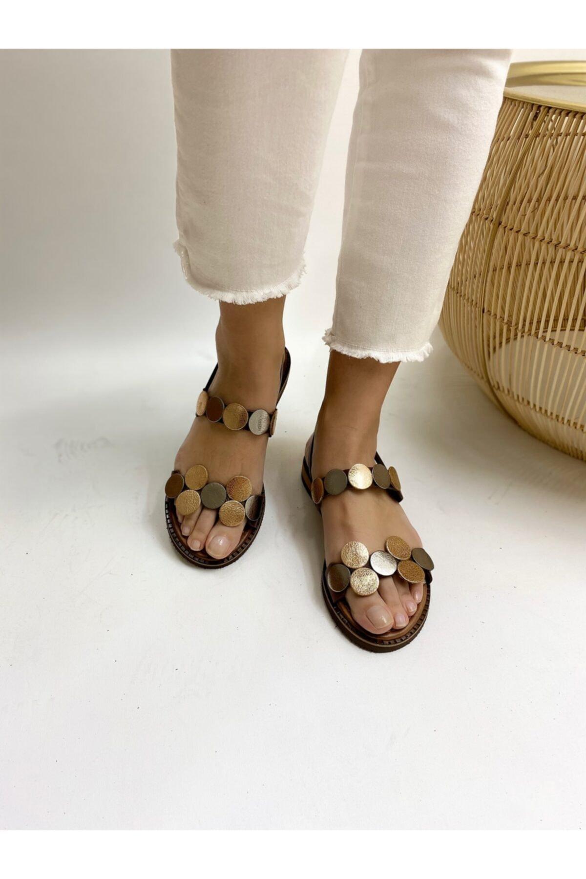 Ülkü Yaman Collection Kadın Hakiki Deri Sandalet 2