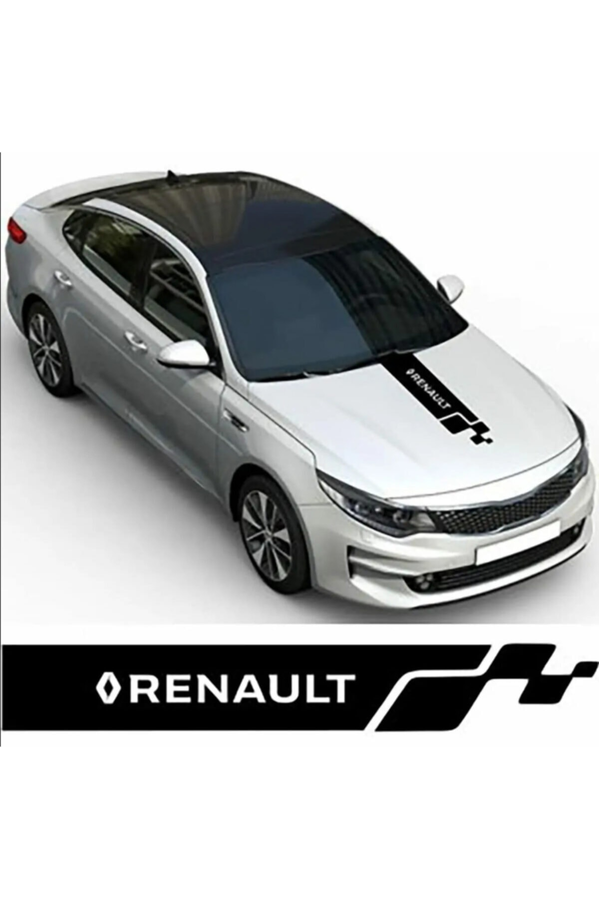 Ufaks Renault Kaput Oto Sticker Yapıştırma 1