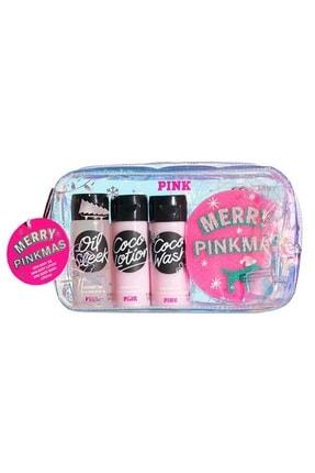 Victoria's Secret Pink Coconut Oil 3lü Vücut Bakım Ve Duş Seti