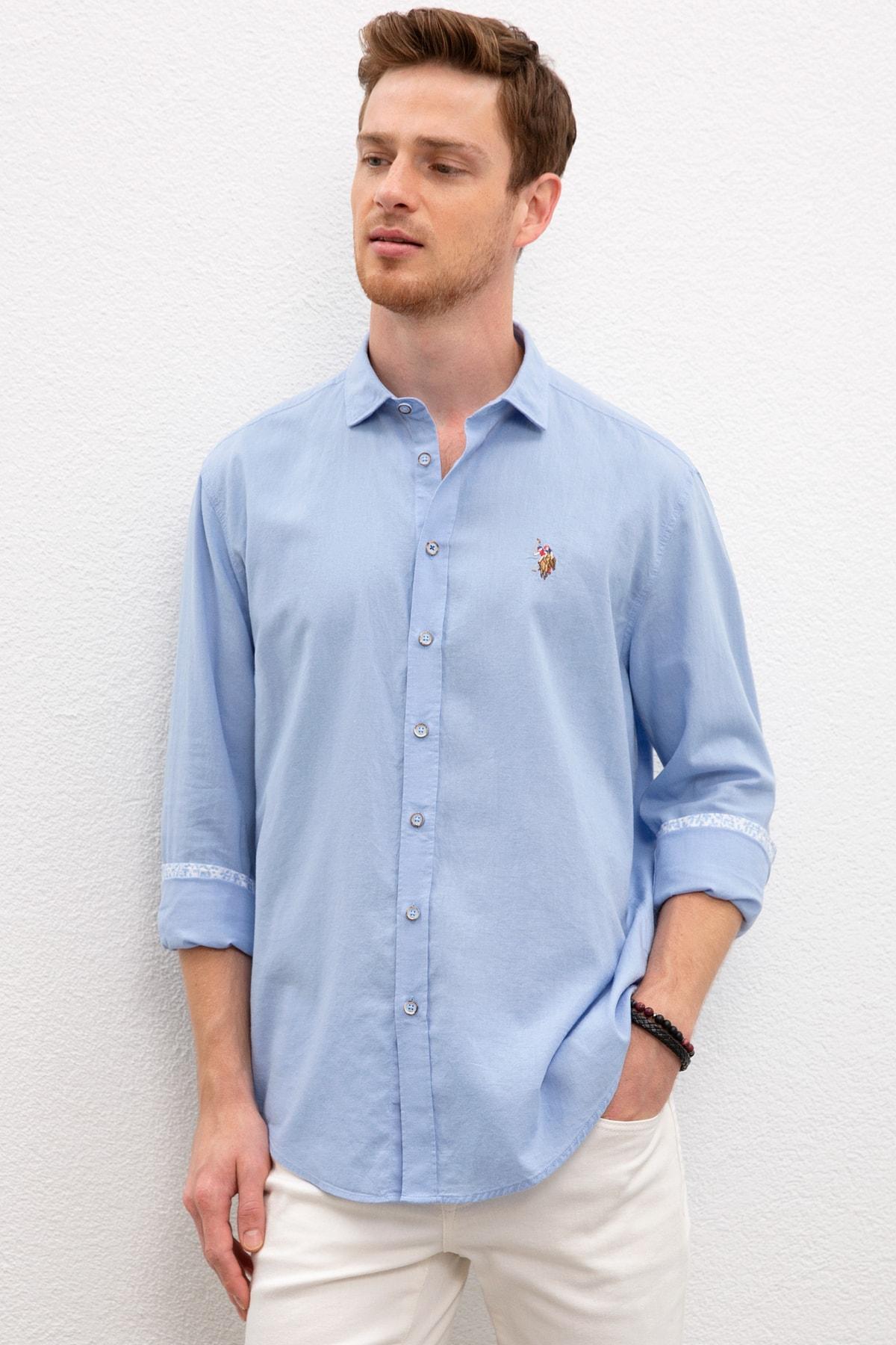 U.S. Polo Assn. Mavı Erkek Gömlek 1