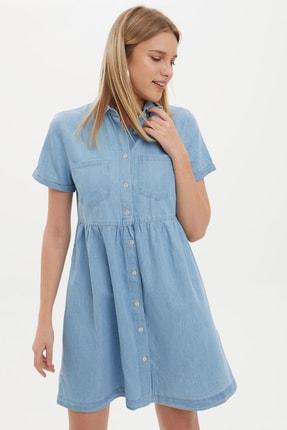 DeFacto Kadın Mavi Jean Elbise K7242AZ.20SM.NM39