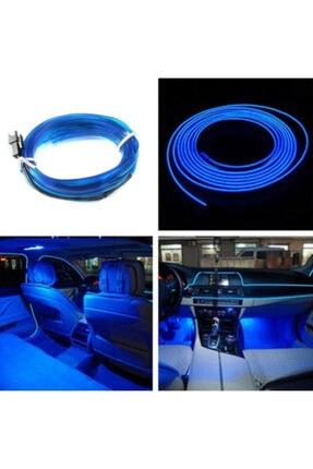 KG GROUP Araç Araba Içi Torpido Şerit Ledi Renkli Ip Neon Ip Led 2 Metre Mavi (orjinal)