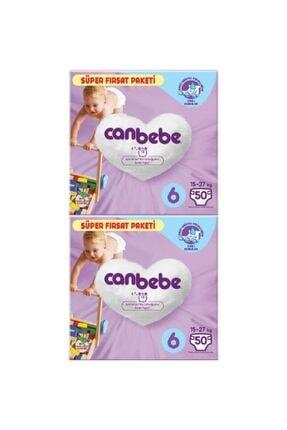 Canbebe 2'li Bebek Bezi Süper Fırsat Paketi 6 Beden 50 Adet
