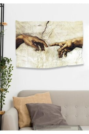 Hediyeler Kapında Adem'in Doğuşu Dekoratif Duvar Örtüsü 110 X 150 cm