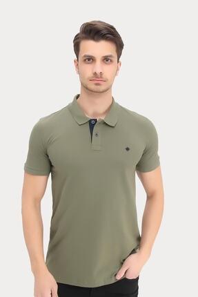 DYNAMO Erkek Haki Polo Yaka Likralı T-shirt T621