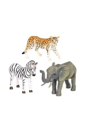 Isabel Terra Orman Hayvanları 3'lü Set Zebra, Fil Ve Çita