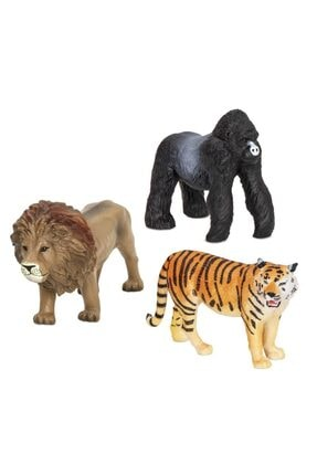 Isabel Terra Orman Hayvanları 3'lü Set Aslan,kaplan Ve Goril