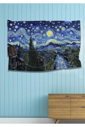 Hediyeler Kapında 110 X 150 Yıldızlı Gece Dekoratif Duvar Örtüsü
