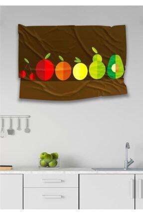 Hediyeler Kapında 110 X 150 Meyveler Dekoratif Duvar Örtüsü