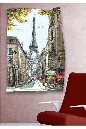 Hediyeler Kapında Paris Eyfel Kulesi Dekoratif Duvar Örtüsü 110 X 150