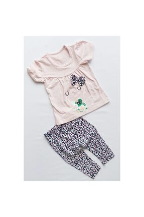 Crazy Baby Kız Bebek Tişört , Tayt Takım % 100 Pamuk