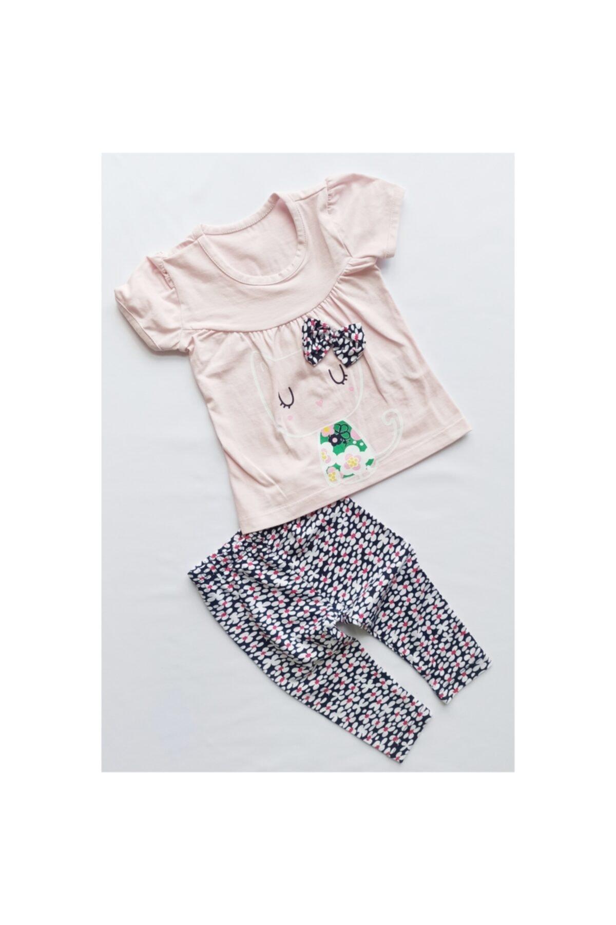 Crazy Baby Kız Bebek Tişört , Tayt Takım % 100 Pamuk 1