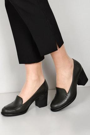 G.Ö.N Gön Hakiki Deri Kadın Topuklu Ayakkabı 24070