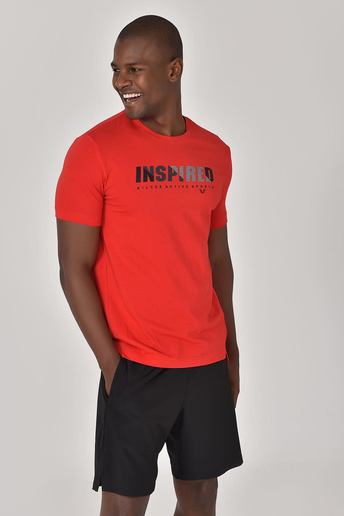 bilcee Kırmızı Erkek T-shirt  GS-8809 2
