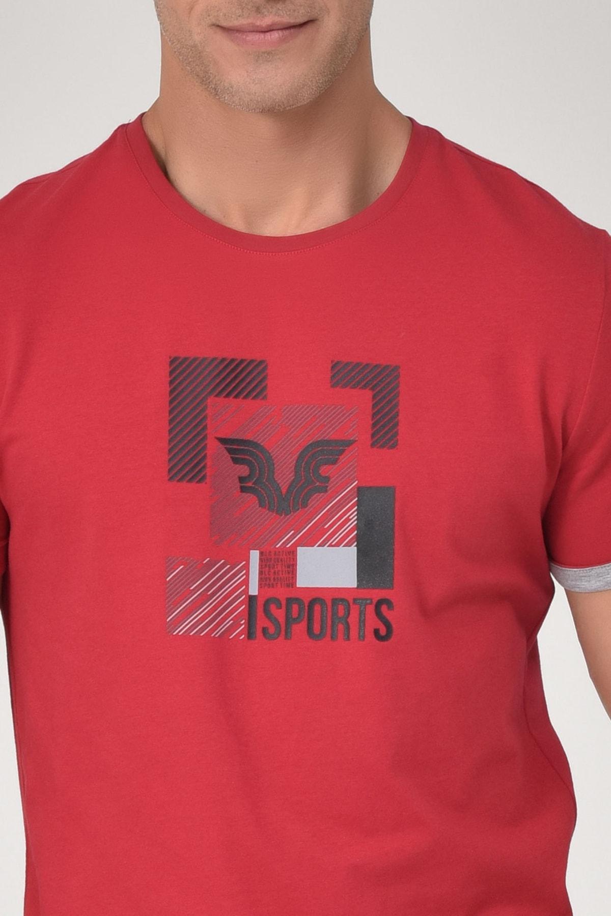 bilcee Kırmızı Erkek T-Shirt GS-8807 2