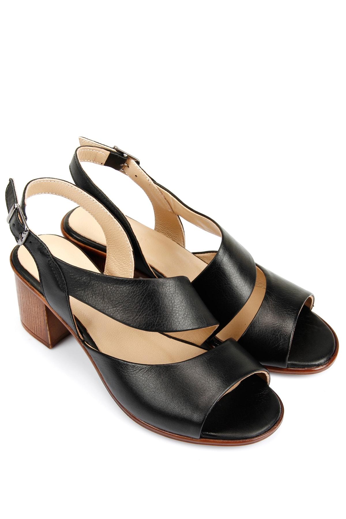 G.Ö.N Gön Hakiki Deri Kadın Sandalet 45632 2