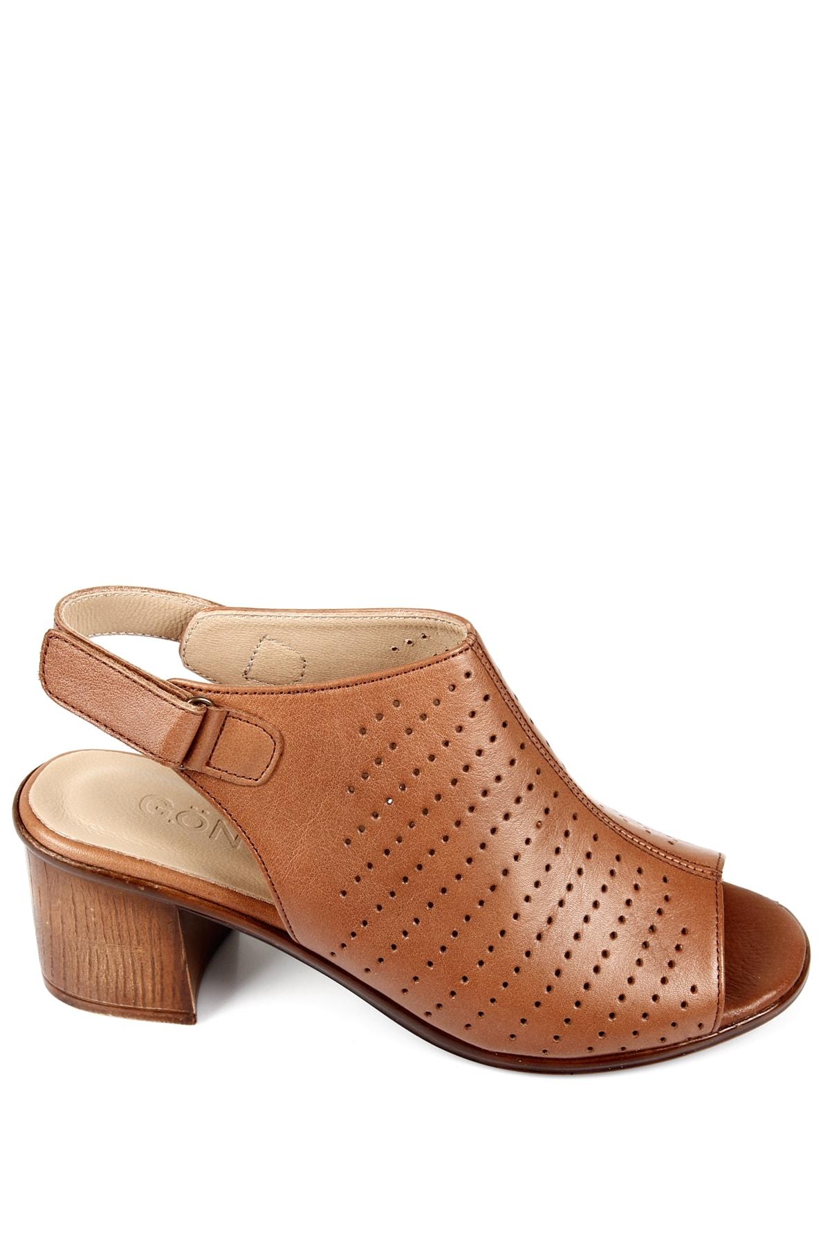 G.Ö.N Gön Hakiki Deri Kadın Sandalet 45627 2