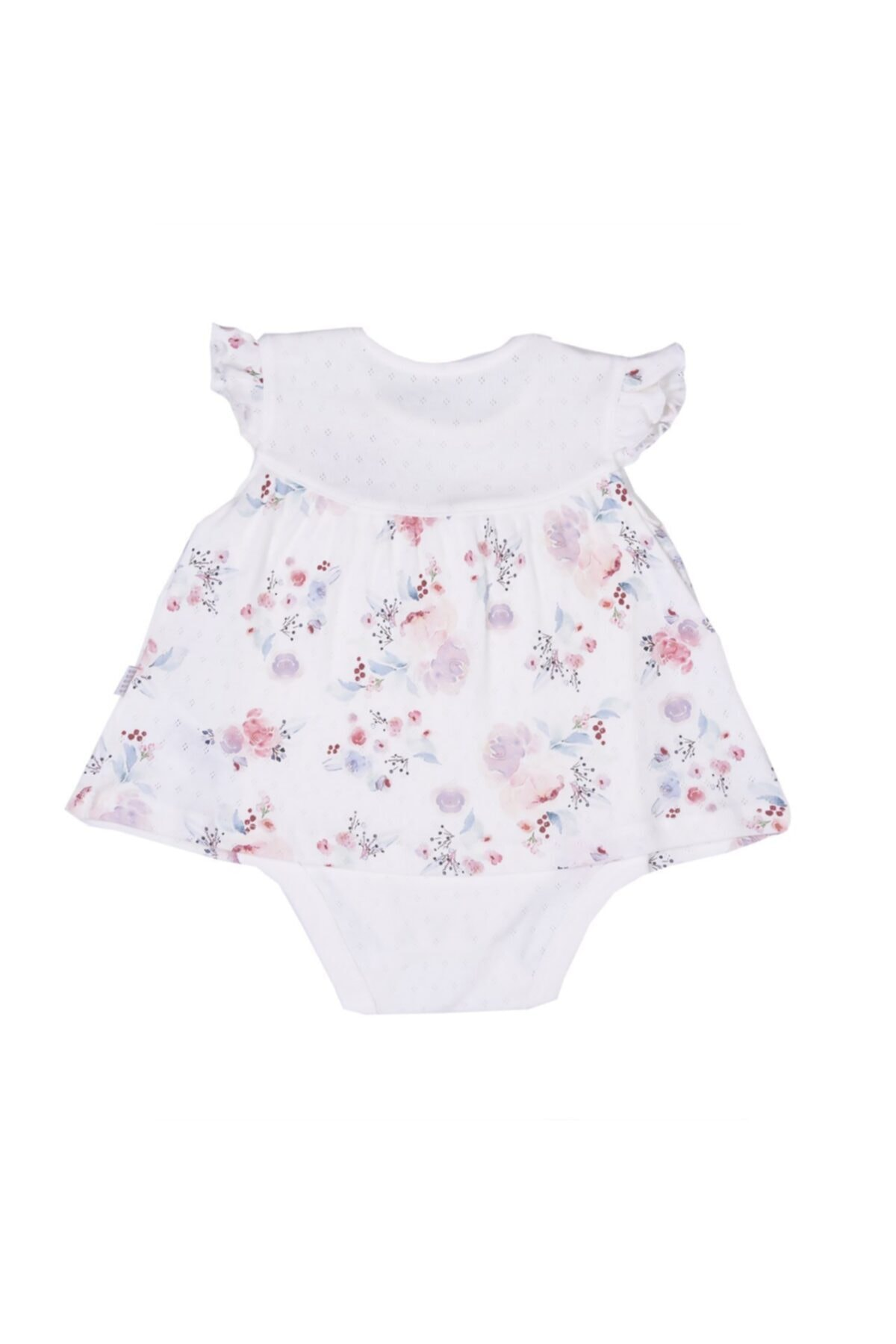 kitikate Kız Bebek Ekru Organik Çiçekli Jile Body 2