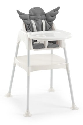 Wellgro Angel Çalışma Masalı Mama Sandalyesi  - Gri Pedli