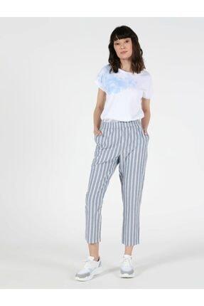Colin's Regular Fit Düz Paça Yüksek Bel 3 Cepmavi Kadın Pantolon