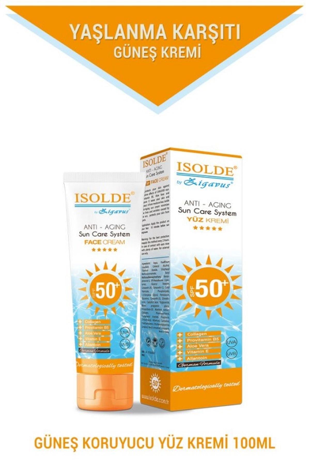 Zigavus Isolde Güneş Koruyucu Anti-Aging Yüz Kremi 50+ 100 ml