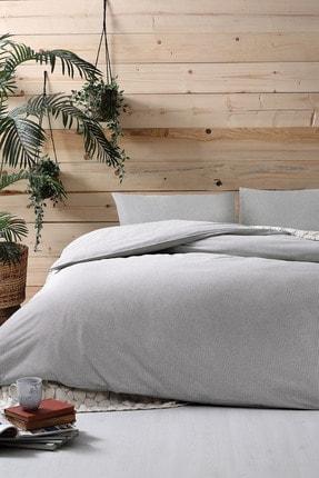 Yataş Bedding Linea Ranforce Tek Kişilik Nevresim Takımı - Gri