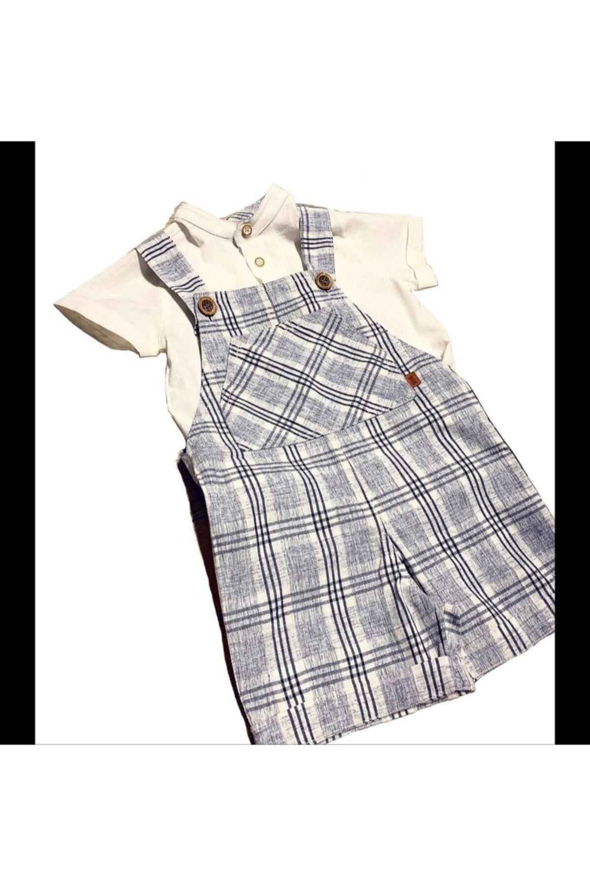 Midimod Erkek Bebek Slopet Gömlekli 2 Li Takım 1