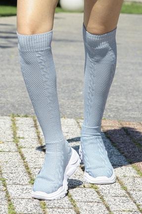 Crash Kadın Turkuaz Çoraplı Sneaker 9402