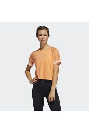 adidas Kadın Turuncu 3-stripes Ringer Tişört