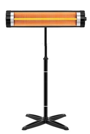 Minisan Black 2600 Infrared Elektrikli Soba Isıtıcı Ayak Dahil