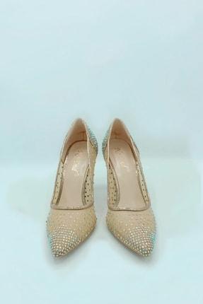Gelinlik Ayakkabıcım 9 Cm Taş Detaylı Topuklu Sindirella Ayakkabı