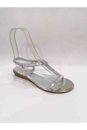 Guja Gümüş Taşlı Bayan Sandalet