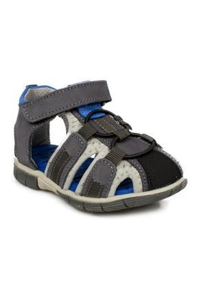 Toddler 7006b Tek Cırt Gri Çocuk Sandalet