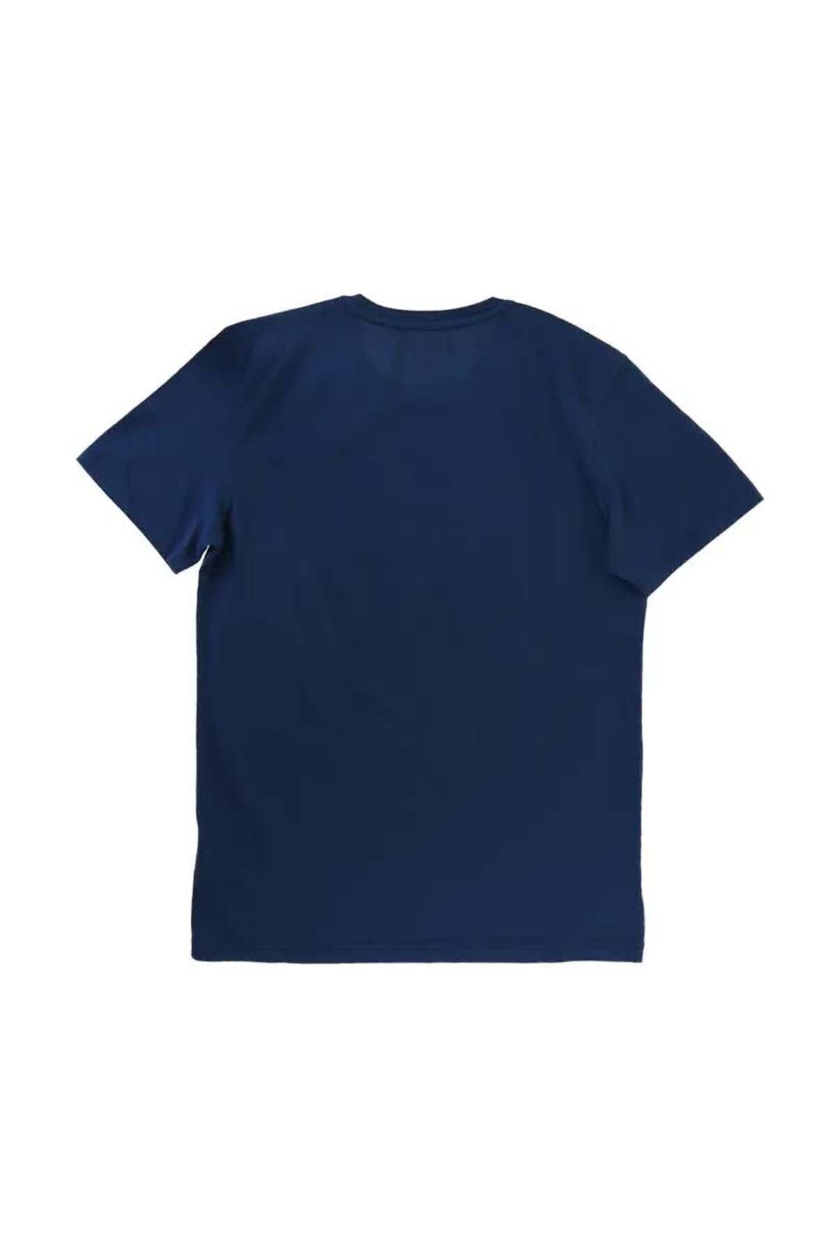 Mustang Erkek Lacivert 0 Yaka T-Shirt 2