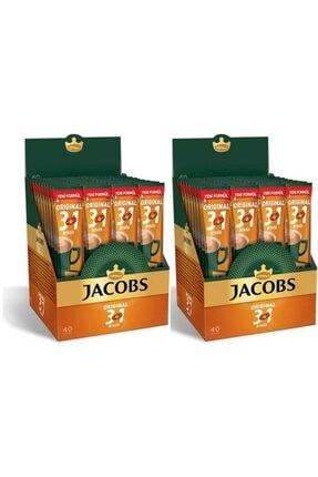 Jacobs 3ü1 Arada Kahve 80 Adet (40x2 Paket)