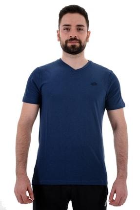 Lotto T-shirt V Yaka Erkek Mavi-soft Tee Pl Vn Iı-r8894