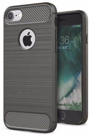 Apple Iphone 7 Kılıf Sert Korumalı Zırh Karbon Çizgili Kapak
