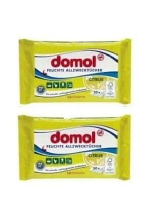 DOMOL Genel Amaçlı Islak Hijyen Bezi Limonlu 50li X 2 Adet