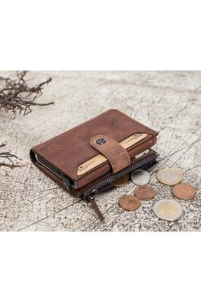 Bouletta Deri Kartlık-cüzdan Rfıd G2 Kahve