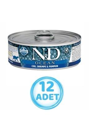 N&D Nd Morina Balıklı Karidesli Yavru Kedi Konservesi 80 gr ( 12 Adet )