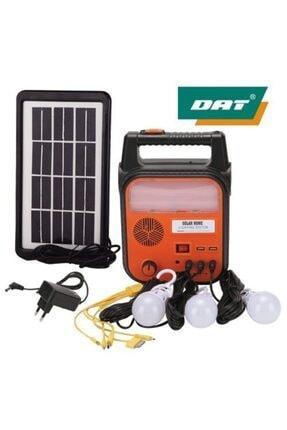 DAT -9012 Güneş Enerjili Solar Şarjlı Çadır Kamp Aydınlatma Fener Seti
