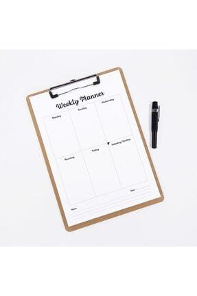 bi'aldım Sekreter Dosyalı Sümen (haftalık Planlayıcı) A4 Boy