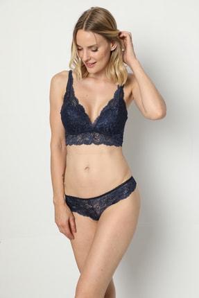 Yapıcı Underwear Kadın Lacivert  Bralet 2'li Takım