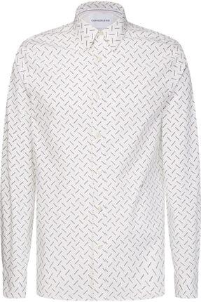 Calvin Klein Beyaz Silm Fit Stretch Erkek Gömlek