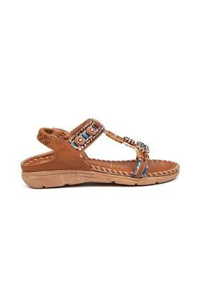Guja Kadın Camel Taşlı Sandalet 15010