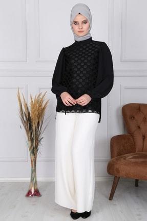 Zühre Kadın Siyah Tesettür Gömlek