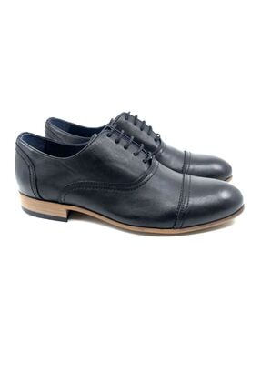 TETRİ Erkek Siyah Hakiki Deri Klasik Ayakkabı