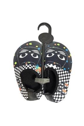 walkie Çocuk Siyah Beyaz Renk Tom Plaj Deniz Ayakkabısı