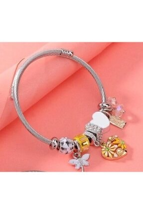 Pandora Kalp Charmlı Şık Gümüş Bileklik