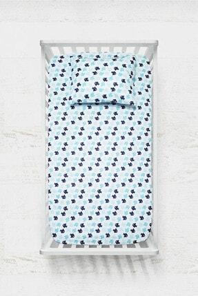 COTENCONCEPT Fish Lastikli Bebek Çarşaf + Yastık Kılıfı 70x140 cm